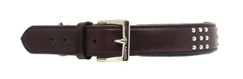 Ancol Big Dog Vintage Leather Collar, 75 cm, Russet