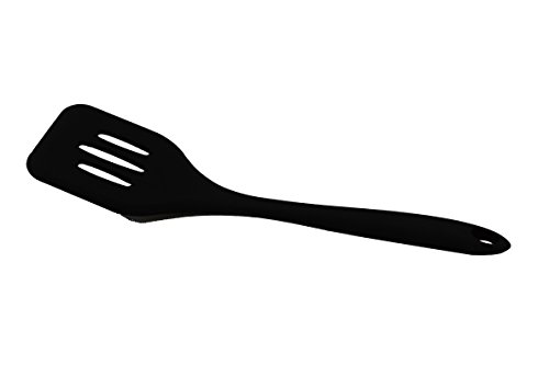 Large Spatula Silicone Kitchen Utensil, Made of FDA Grade, BPA Free Silicone, Heat Resistant up to 450 Degrees Fahrenheit, Non Stick Stain & Ordor Resistant, Dishwasher Safe - Black