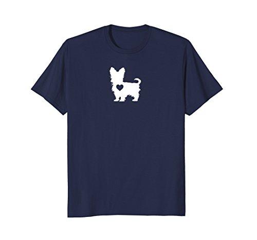 Mens I Love My Yorkie Yorkshire Terrier T Shirt With Love Heart Medium (Yorkie Dog T-shirt)