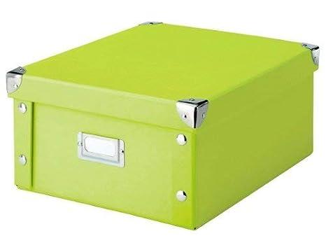 Zeller 17812 Caja de almacenaje de cartón Verde (Grun) 31 x 26 x 14 cm: Amazon.es: Hogar