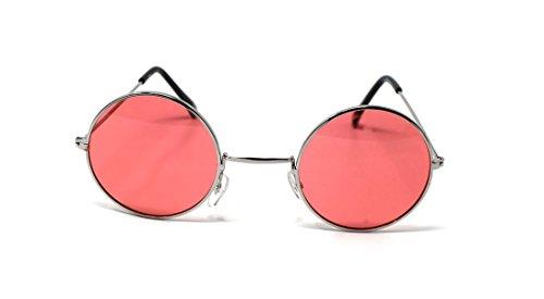UV400 Vintage Rondes Qualité Lunettes de Elton Lentes Femmes Petit Soleil Unisexe Retro Plateado Con Hommes Rosados Classique Adultes Lennon John Style zvwPC