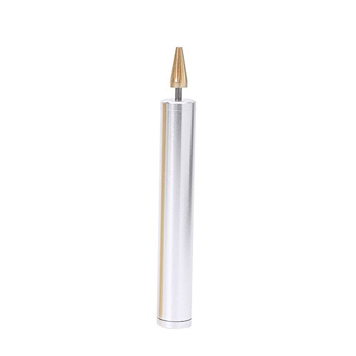 Breynet Leather Craft Edge Dye Roller Pen Applicator, Brass Leathercraft Edge Treatment Roller Pen Oil Painting Making Accessories Tool (silver) (Roller Leather)