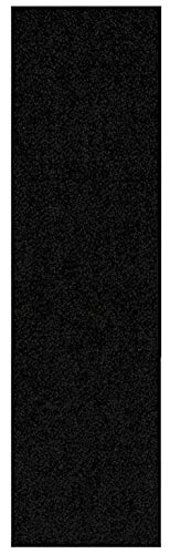 Home Queen Solid Black Color Custom Size Runner 4' x 10' - Area ()