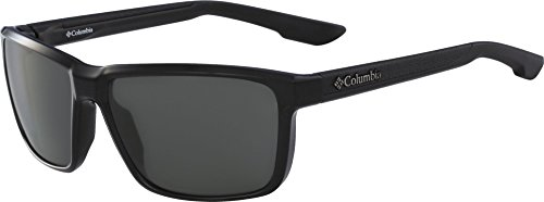 Columbia Men's Zonafied P Polarized Rectangular Sunglasses, Black, 58 mm by Columbia