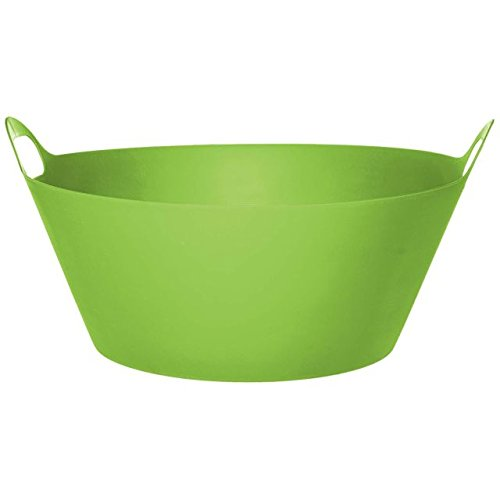 Green Chiller - Amscan Drink Chiller Tub with Handles, 1 Piece, Made from Plastic, Kiwi Green, 19