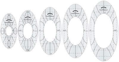 Amanda Murphy Good Measure Long Arm Sewing Templates Five-Piece Set, Every Oval'' by Amanda Murphy