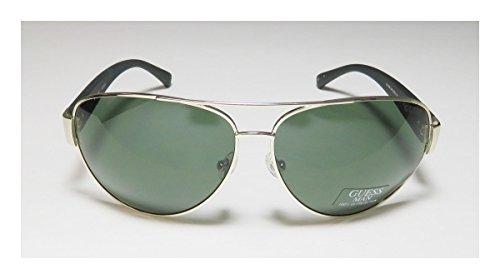 Guess lunettes de soleil aviateur en or GU6830 32N 63 Gold Green