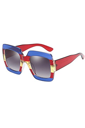 Moda Para Sol De Gafas UV400 Black2 Mujeres Las Los Hombres Rectangulares O 6qwr67