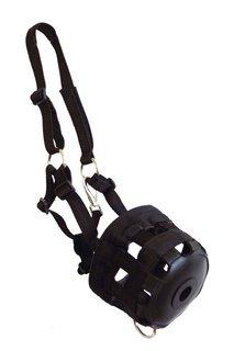 Maulkorb für Pferde Gr Cob aus Nylong mit Verstärkung im Maulbereich in schwarz