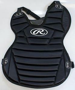 Rawlings New Chest Protector WCP-B 15'' Black Softball Catcher's by Rawlings