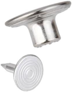 【ノーブランド品】50セット 縫製 金属 タック スナップ ジーンズボタン シルバー 14MM