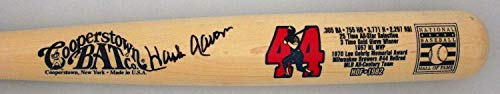 Braves Hank Aaron Autographed Cooperstown Collection Limited Edition Bat 2 Signed - JSA Certified