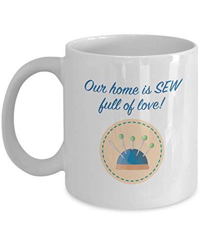 Fun Funny Sewing Mug Gift for Seamstress Sew Love Crafts Crafting