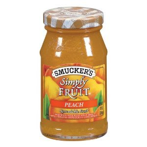 Smuckers Simply Fruit Peach Spreadable Fruit 10OZ (Pack of 24)