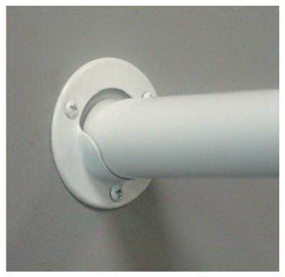 Knape /& Vogt Closet Pole Socket White 1-3//8 Dia.