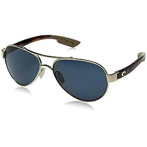 Costa del Mar Loreto Polarized Aviator Sunglasses, Rose Gold, 56.5 mm