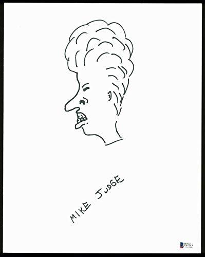 (Mike Judge Beavis & Butthead Signed Board w/Beavis Sketch BAS #E67583 - Beckett Authentication)