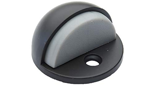 QCAA Low Dome Floor Door Stop, H 25.4 x Diameter 44.5mm, Zinc Die Cast, ORB Oil Rubbed Bronze, 4 Pack, Made in ()
