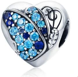 NEW SILVER /& BLUE RHINESTONE BUTTERFLY  CLIP ON CHARM