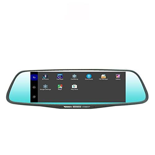 CT-CARID Dual Camera Dash Cam Rear view 2D Blue Mirror 7 Inc