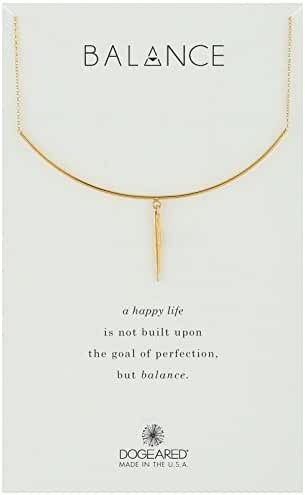 Dogeared Balance, Delicate Bar with Spear Chain Necklace, 14