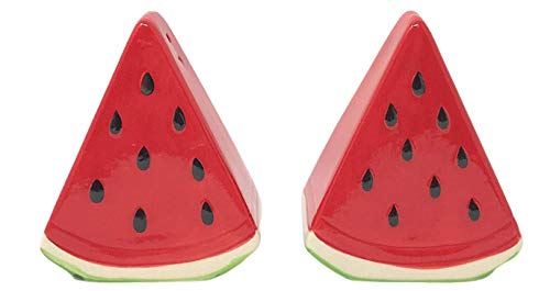(Northeast Home Goods Watermelon Slices Ceramic Salt & Pepper Shakers)