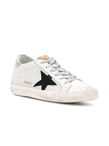 Golden Goose Sneakers Donna G31WS590C39 Pelle Argento/Bianco