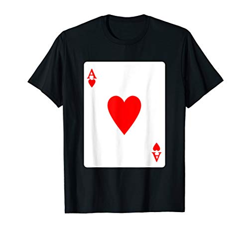 Ace Of Hearts Playing Card Valentine T-Shirt -