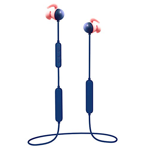 ENKI Wireless Music Earbud Earphone Ultra-Light Bluetooth CSR4.1 Sport in-Ear IPX4 Sweatproof Headphones Headset with Mic, Dual Battery Providing Over 14 Hours Playing Time (Navy Blue)