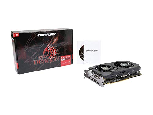 (2019 PowerColor RED Dragon Radeon RX 580 DirectX 12 AXRX 580 8GBD5-3DHDV2/OC 8GB 256-Bit GDDR5 PCI Express 3.0 CrossFireX Support ATX Video Card)