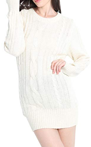Liny Xin Women's Cashmere Knitted Crewneck Long Sleeve Winte