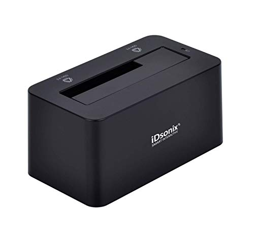 iDsonix Tool Free USB 3.0/2.0 to SATA 2.5/3.5 Inch Hard Drive Docking Station with 3.3 Feet USB 3.0 Cable for HDD/SSD Support 8TB and UASP, Fast Heat Dissipation- Black (Broken Sata Power Connector On Hard Drive)