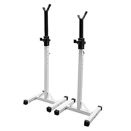 Soporte para pesas y manillar regulable, de acero, ideal para fitness y ejercicios de