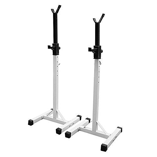 Soporte para pesas y manillar regulable, de acero, ideal para fitness y ejercicios de trabajo muscular, Bianco: Amazon.es: Deportes y aire libre
