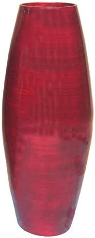 Uniquewise 27.5 Tall Bamboo Floor Vase Red