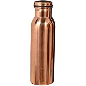 Divy Item Super Copper Water Bottle 1 LTR Extra Large Ayurvedic Pure Copper Vessel – Drink More Water, Lower Your Sugar…