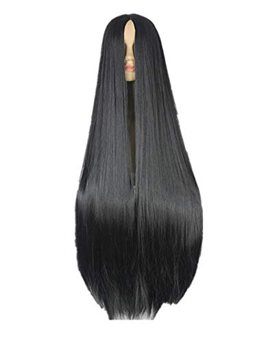 Black Wig 100CM/40 Inches Synthetic Heat Resistant Fiber