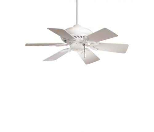 Minka-Aire F562-WH Downrod Mount, 6 White Blades Ceiling fan, White