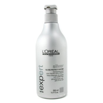 3. L'Oreal Expert Professionnel - Shampoo Silver L'Oreal Expert Professionnel - Best Nourishing Shampoo for Gray Hair