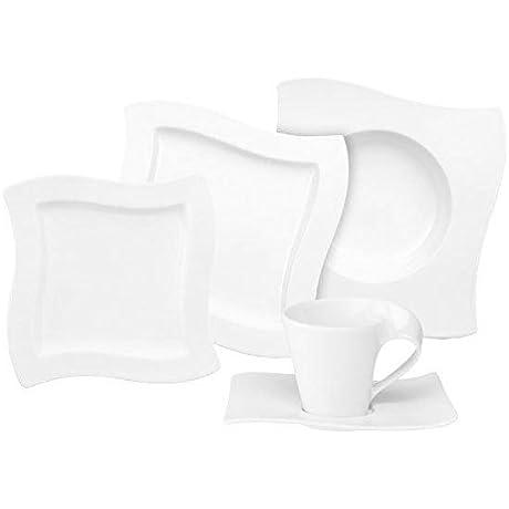 Villeroy Boch New Wave 30 Piece Basic Dinnerware Set White