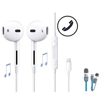 Wolfarya Auriculares Headphones Earphones Earbuds con Micrófono y Control de Volumen para Phone 7/7 Plus / 8/8 Plus / X: Amazon.es: Electrónica
