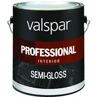 VALSPAR Corporation 11900 Valspar Professional Interior Latex Semi Gloss Hi-Hiding White, 1 Gallon-299836