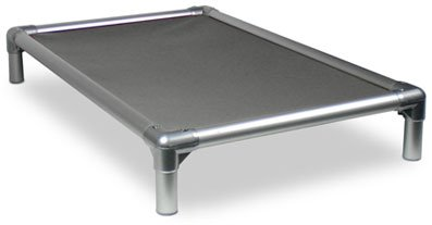 Kuranda All-Aluminum (Silver) Chewproof Dog Bed - XXL (50x36) - 40 oz. Vinyl - Smoke