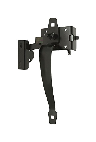National Hardware S760-830 CD1290 Ornamental Thumb Latch in Black, up to 2-5/8