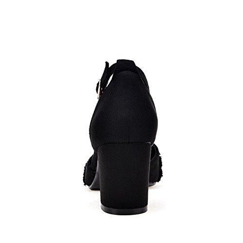 Mujer Cuña Negro Con Sandalias 1to9 qwxgaHztW