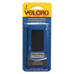 "VELCRO Brand - Industrial Strength Tape 4"" x 2"" Strips, 2 Sets - Black from VELCRO Brand"