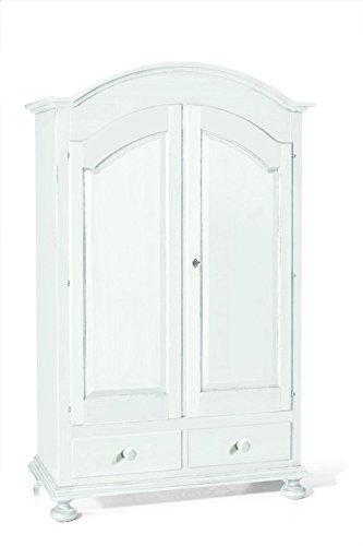 CLASSICO armadio Shabby Chic bianco 2 ante e cassetti ...
