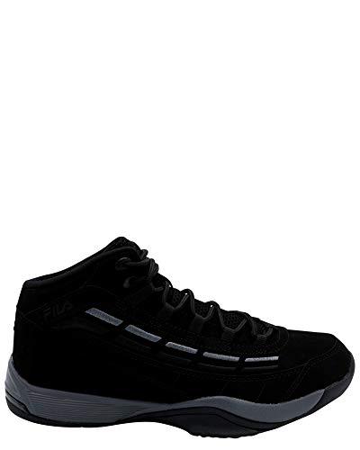 Fila Mens Mens Spitfire Mid Sneaker,Black/Black,11.5