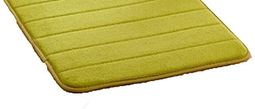 Extra Large Memory Foam Anti-Skid Bath Mat,Super Soft Bathroom Rugs Coral Velvet Non Slip Absorbent Large Carpet,Green,50x80cm,China