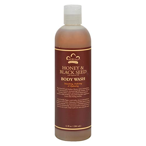 Nubian Heritage Body Wash, Honey and Black Seed, 13 Fluid Ounce